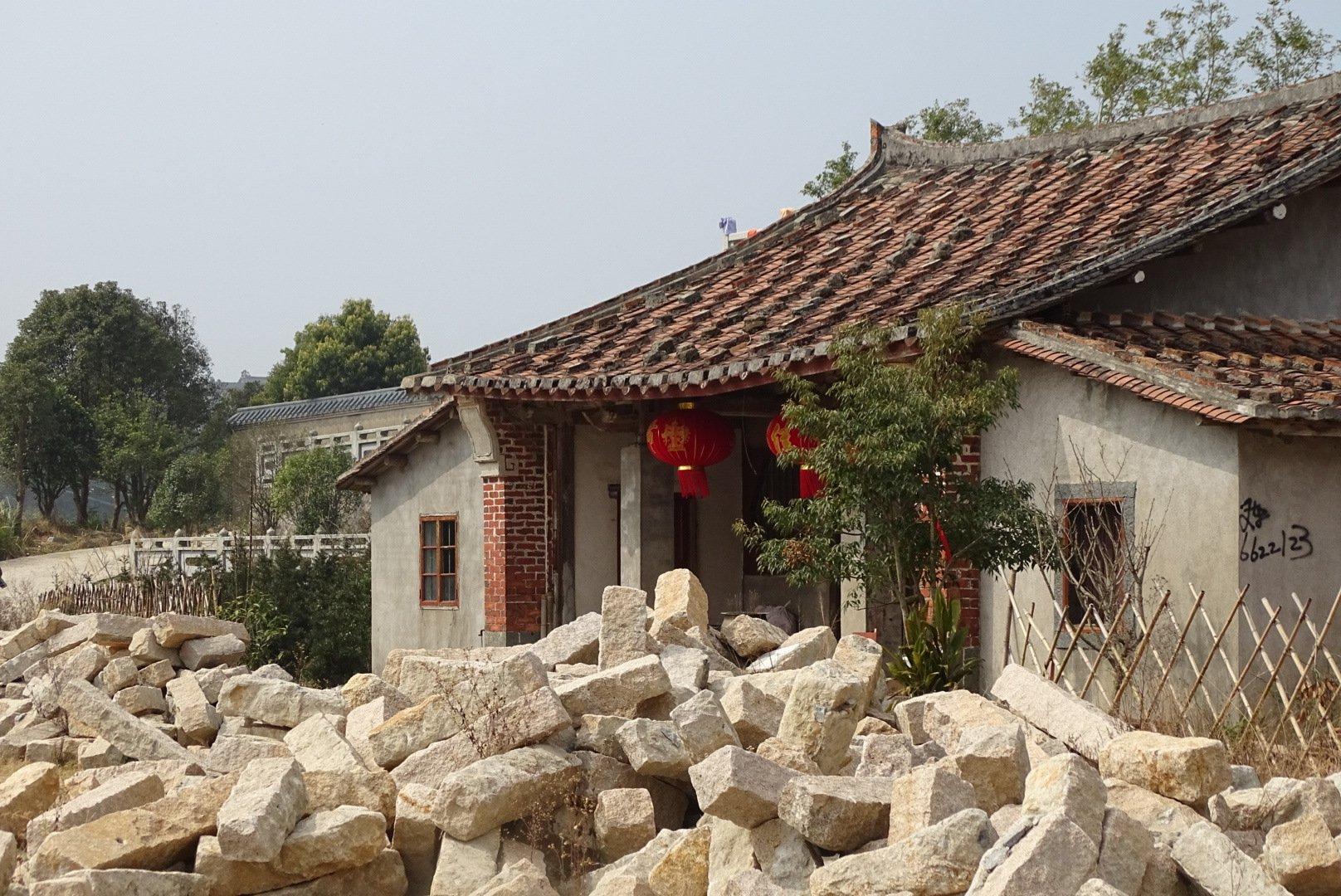 Zifu Monastery with original excavation bricks outside