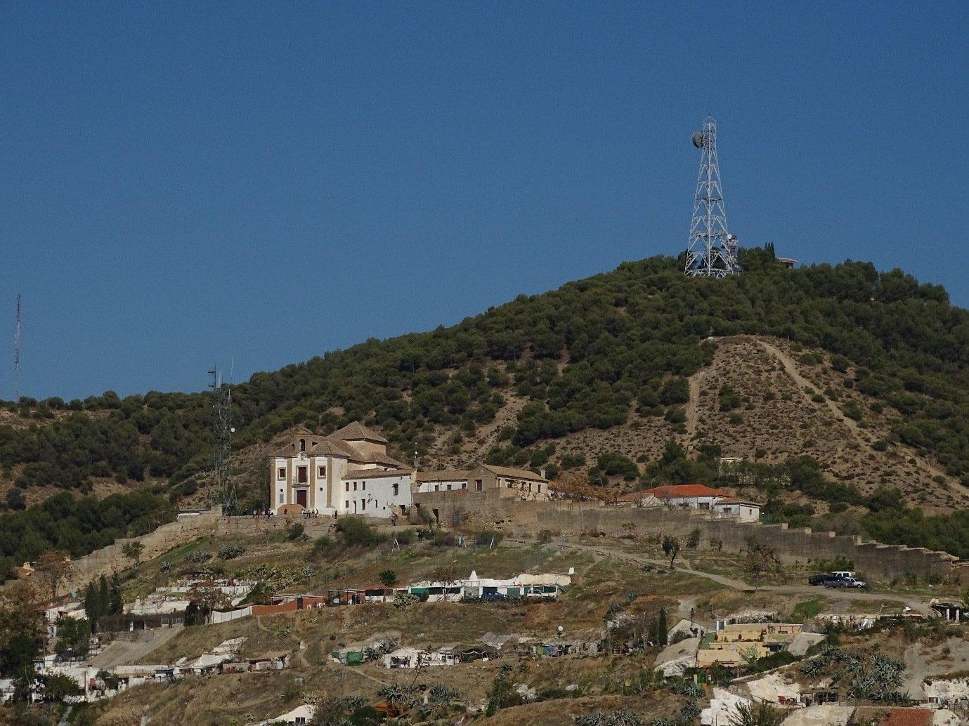 Albaicín hill with the Mirador San Miguel Alto monastery and viewpoint