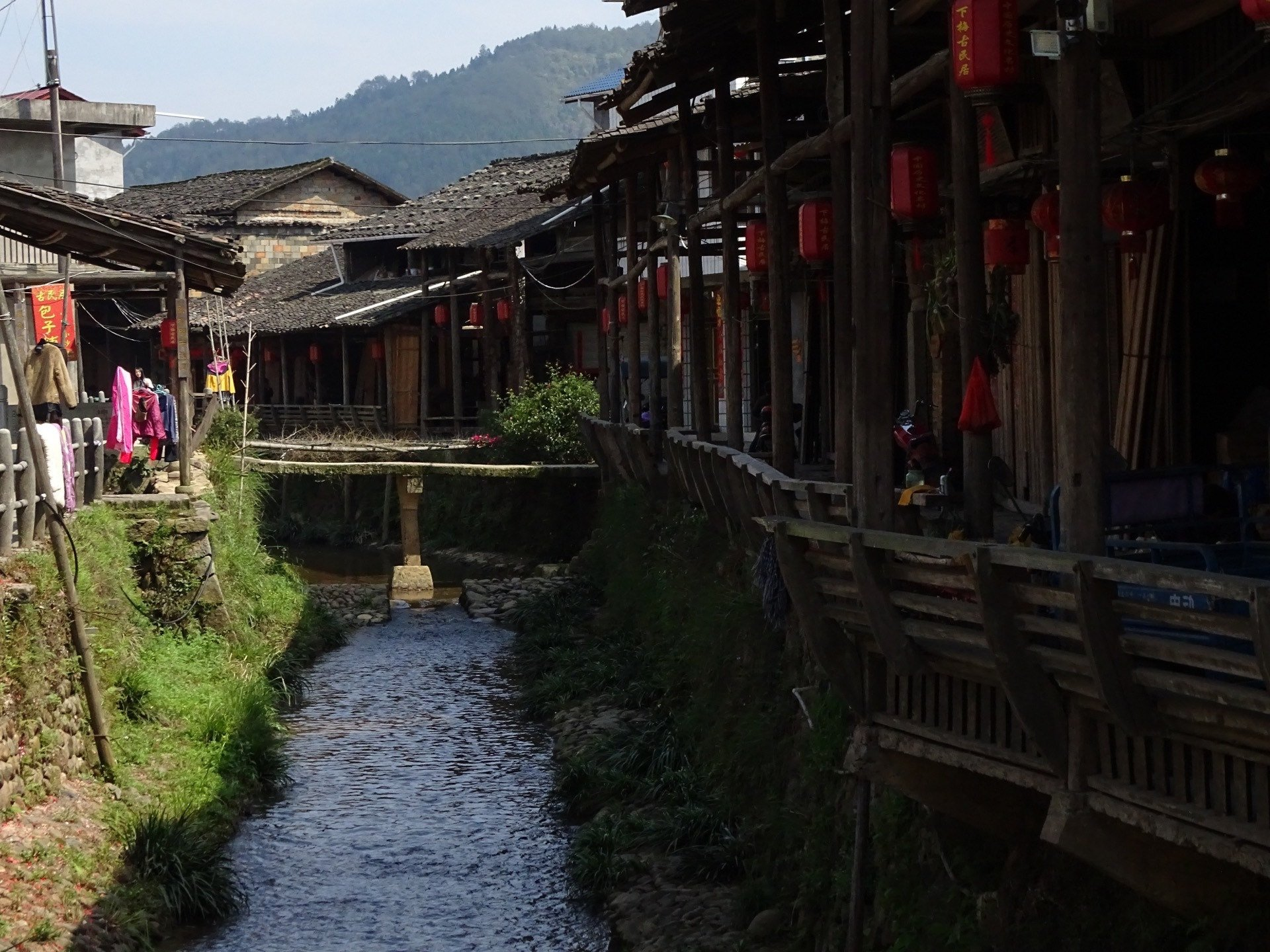 View down canal of Xiamei Village
